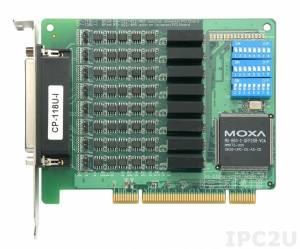 CP-118U-I-T 8-портовая плата RS-232/422/485 для шины Universal PCI, гальваническая изоляция 2 кВ, без кабеля, -40...+85С