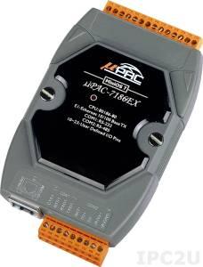 uPAC-7186EX PC-совместимый промышленный контроллер 80МГц, 512кб Flash, 512кб SRAM, 1xRS232, 1xRS485, 10/100BaseT(X) Ethernet, MiniOS7