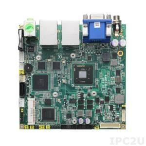 NANO831VGGA-N2600 Процессорная плата Nano-ITX Intel Atom N2600 1.6ГГц + Intel NM10 c DDR3, VGA/LVDS, 2xGigabit LAN, 2xCOM, 6xUSB, CFast, разъем PCI Express Mini, Audio