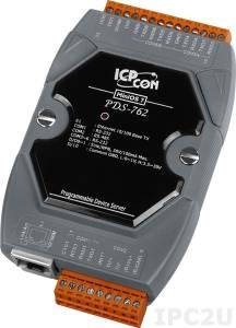 PDS-762 Программируемый Ethernet сервер последовательных интерфейсов, 5xRS-232, 1xRS-485, 1xDI/2xDO