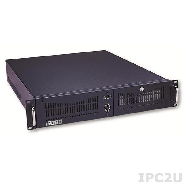 "iROBO-2000-21B3 Промышленный компьютер 2U/19""/B75/Intel Pentium G2020 2.9ГГц/2Гб DDR3/1000Гб SATA HDD/DVD-RW/VGA/2xГб LAN/6xUSB/2xCOM/1xLPT/4xPCI/400Вт ATX"