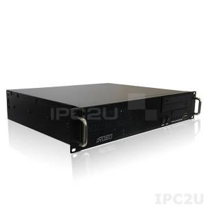"iROBO-2000-20i2TR-G2 Промышленный компьютер 2U/19""/Q87/Intel Pentium G3420 3,2ГГц/2x2Гб DDR3/1000Гб SATA HDD/DVD-RW/DVI, 2xDP/2xГб LAN/1xCOM(до 2-х)10xUSB/низ-проф. слоты: 4xPCI/1xPCIe-16/1xPCIe-4/1xPCIe-1/Audio/300Вт ATX"