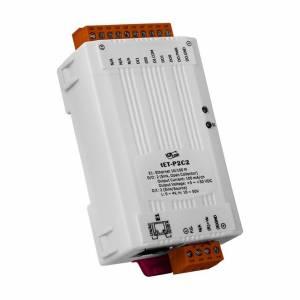 tET-P2C2 Mодуль дискретного вывода 2DI/2DO (NPN, Sink), Ethernet 10/100
