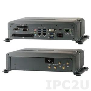 "AIV-HM76V1FLCE1 Embedded Server Intel Celeron 1047UE 1.4GHz CPU, 2GB DDR3, HDMI, DVI-D, Video-out (combo with USB, Audio, Power), 4xUSB, 2xGbit LAN, RS232, RS232/422/485, 4xDI/4DO, Audio, 2x2.5"" SATA Drive Bays, 2xMini-PCIe, 9..32V DC-In"