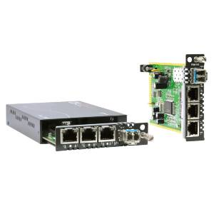 FRM220A-FSW103 Managed Fast Ethernet Switch with 3x 10/100Base-TX and 1x 100Base-FX SFP Port, 12VDC Input Power, 0..50C Operating Temperature
