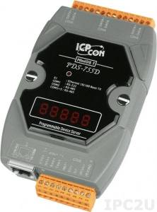 PDS-755D Программируемый Ethernet сервер последовательных интерфейсов, 1xRS-232, 4xRS-485, 7 - сегментный индикатор