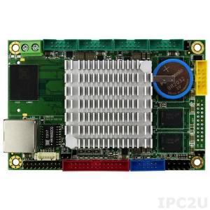 VDX2-6518-1G-S 2.5'' одноплатный компьютер Vortex86DX2 800МГц с 1ГБ DDR2 RAM, VGA, LCD, LVDS, LAN, 4xCOM, 2xUSB, слот для SD карты, PWM, рабочая температура -10..60 C
