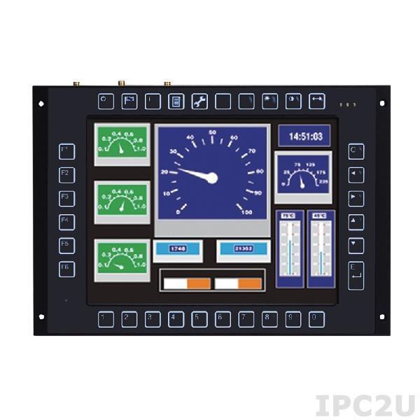 "GOT-710-837-G-E3845-110VDCw/kp Безвентиляторный панельный компьютер для железнодорожного транспорта 10.4"" SGVA, без сенсорного экрана, Intel Atom E3845 1.9ГГц, 4Гб DDR3, 16Гб flash, 1xmSATA, 2xCOM, GB LAN, 2xUSB 2.0, 2xPCIe Mini, CAN, DIO, Audio, 110В DC, -25...+70C, клавиатура"