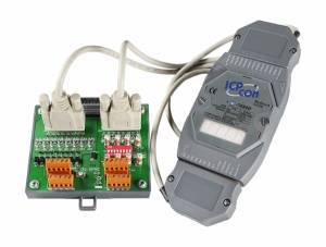 M-7088D/S Модуль ввода - вывода, 8 каналов высокоскоростного счетчика/частотомера / 8 каналов ШИМ, ТТЛ, Modbus RTU, с индикацией, с выносной платой DN-8P8C-CA