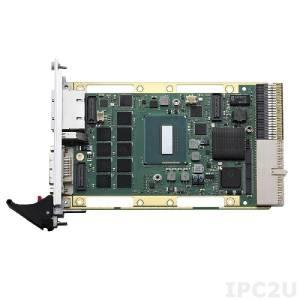 cPCI-3511G/4700E/M8 Процессорная плата 3U CompactPCI, процессор Intel Core i7-4700EQ, 8Гб DDR3L-1600 ECC память, DVI, 2x GbE, 1x USB 3.0, RJ-45 COM, 2x DisplayPort, PS/2 KB/MS, 1x USB 2.0, CFast