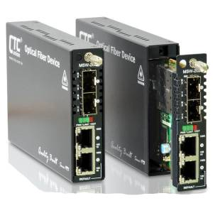 FRM220-MSW202 Managed Gigabit Carrier L2 Ethernet Switch with 2x 10/100/1000Base-T and 2x 100/1000Base-X SFP Ports, OAM function, 12VDC Input Power, 0..50C Operating Temperature