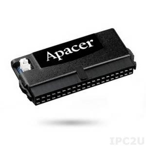 AP-FM008GED0S5S-QTW1H APACER Disk on module, IDE 40 контактов, 8Гб, SLC, вертикальный, в корпусе, 20пин разблокирован, рабочая температура -40..85C