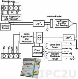 DSCT36-04 Нормализатор сигналов потенциометра, вход 0...10 кОм, выход 4...20 мА