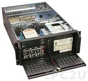 """GH-432ATXR 19"""" корпус 4U, EATX, отсеки 3x5.25""""/1x3.5"""" FDD/2x3.5"""" HDD, без источника питания"""