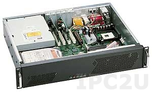 """GHI-250 19"""" корпус 2U, ATX, отсеки 1x5.25""""/1x3.5"""" Slim/1x3.5"""" HDD, без источника питания"""
