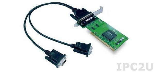 CP-102UL-DB9M 2-портовая низкопрофильная плата RS-232 для шины Universal PCI, с кабелем DB9M