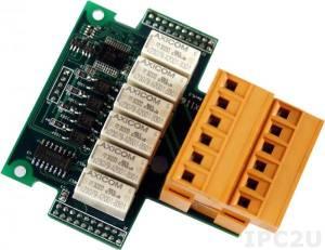 X116 Плата расширения для контроллеров серии I-7188XC, 8 каналов ввода и 6 каналов релейного вывода
