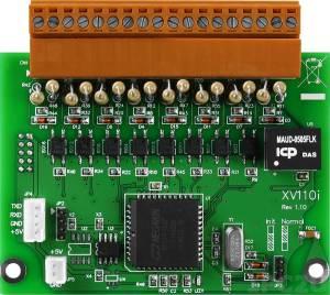 XV110 Плата дискретного ввода, 16 каналов DI источник/приемник для VPD-132/133, сухой контакт или контакт с внешним питанием, ModBus RTU, RoHS