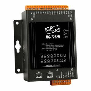 MQ-7252M Модуль ввода-вывода, 8 каналов дискретного ввода, 8 каналов дискретного вывода, 2 порта Ethernet, MQTT