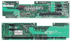 PBPE-06V 2U двухсторонняя объединительная плата PICMG 1.3 6 слотов с 1xPICMG, 1xPCI-Express x16, 4xPCI-Express x1, до 12В