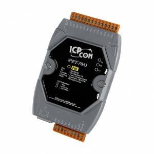 PET-7083 Модуль ввода, 3 канала ввода со счетчика/энкодера, 3 оси, 32-бит, PoE