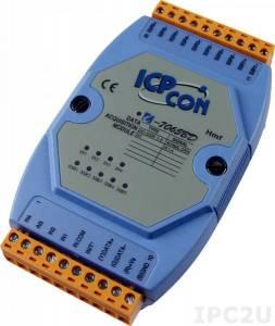 I-7065BD Модуль ввода - вывода, 5 каналов вывода с твердотельного реле / 4 канала дискретного ввода, c изоляцией до 3750 В и индикацией