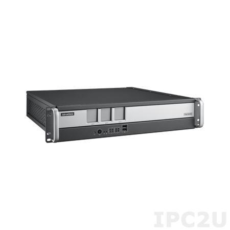 "ITA-2211-00A1E Промышленный безвентиляторный компьютер 2U в 19"" стойку для ж/д, Intel Atom E3845 1.91ГГц, 4Гб DDR3, 1x3.5"" HDD или 2x2.5"" отсеки, VGA/DVI-D, 2xGbE LAN, 7xUSB, 2xCOM, Аудио, 3xITAM, 1xPC/104+, 1xMini PCIe, один разъем питания AC DC"