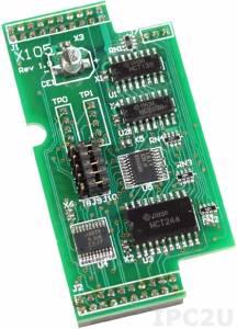X105 Плата расширения для контроллеров серии I-7188XC, 8 программируемых каналов дискретного ввода-вывода