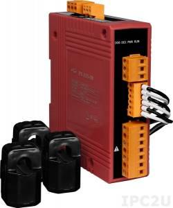 PM-3133-100-MTCP 3-фазный компактный измеритель напряжения и тока, кабель 10мм (0-60A), до 500 В, 50/60Гц, Modbus TCP